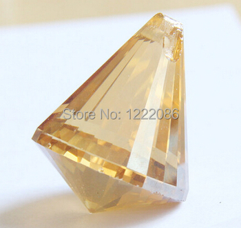 50pcs 40mm Chandelier Crystal Ball Prism Suncatcher Feng Shui Pendant Cognac