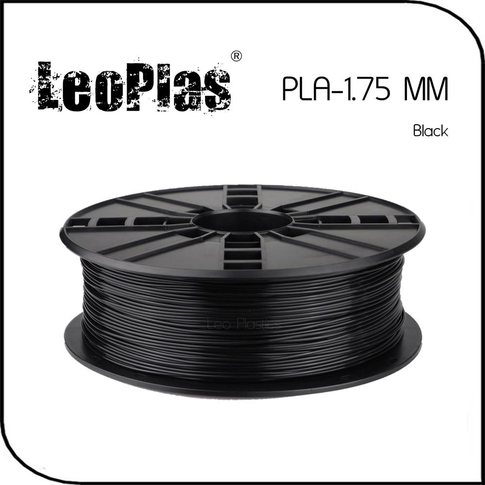 Todo el mundo Expreso Rápido Plazo De 7 Días Fabricante Directo Material de La Impresora 3D 1 kg 2.2 lb 1.75mm Negro PLA Filamento