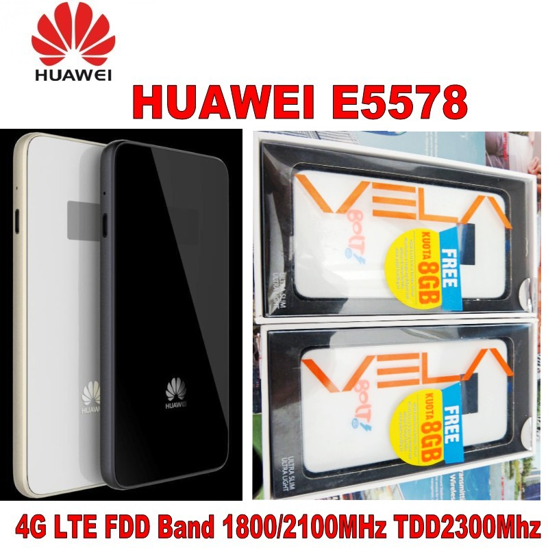 Lot of 5pcs Huawei E5578 LTE Mobile WiFi Modem Router 4G LTE FDD 1800/2100Mhz TDD 2300Mhz PK huawei e5878 lot of 200pcs huawei f685 gsm