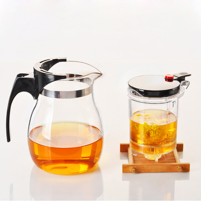 WALFOS High quality Heat Resistant Glass Teapot Chinese kung fu Tea Set Puer Kettle Coffee Glass Maker Convenient Office Tea Pot 5