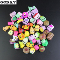 OCDAY 50 100pcs Fruit Merchants Family Shopping Mixed Toy Doll Kids Cute Cartoon Plastic Mini Toys