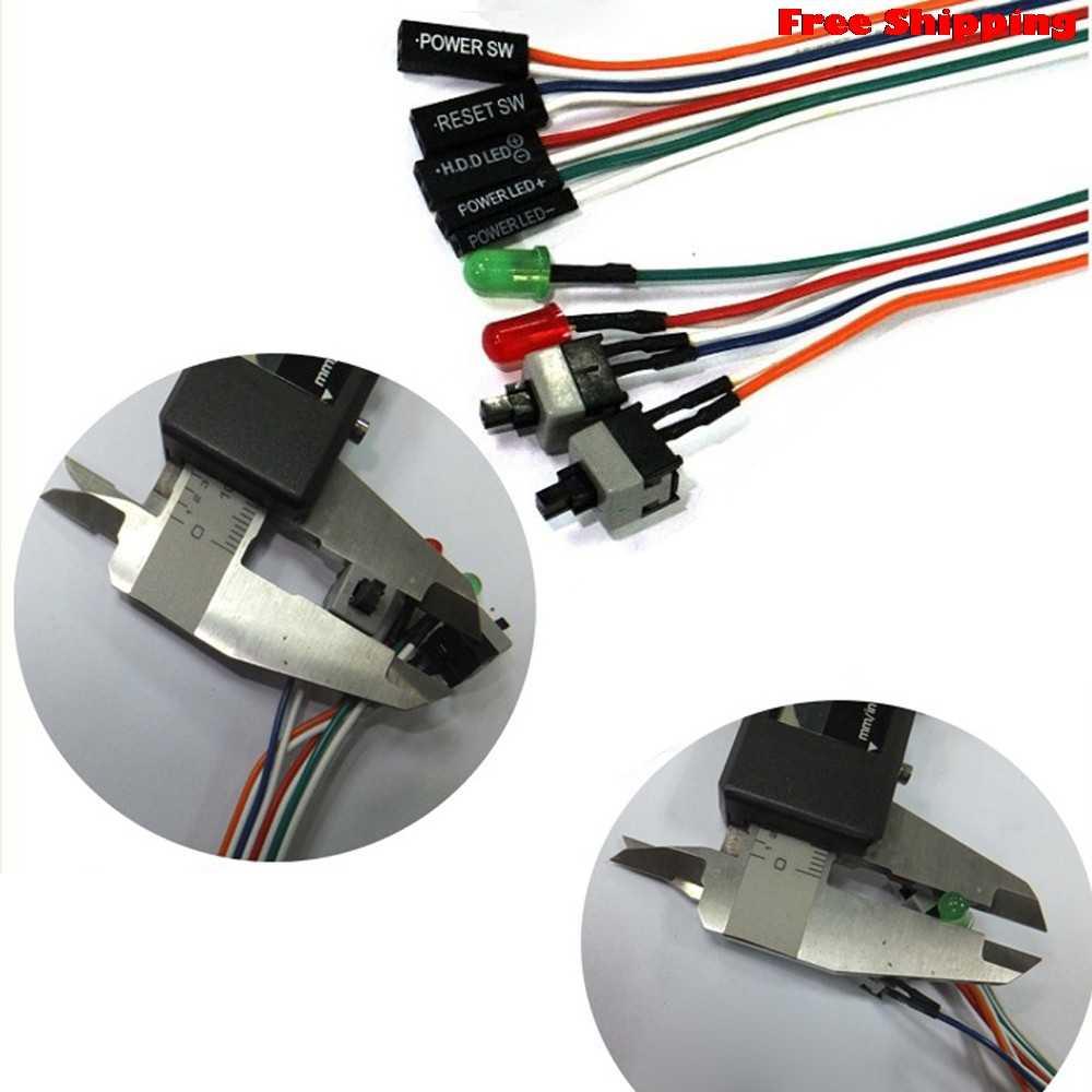 Vovotrade ATX PC вычислительная материнская плата силовой кабель 2 включения/выключения/сброса со см светодио дный подсветкой 68 см Замена Бесплатная доставка
