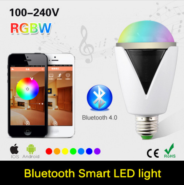 E27 3W LED Bulb Wireless Bluetooth 4.0 Audio Speaker RGBW Lampada Led Lamp Light Music Playing & Lighting For iOS For Android