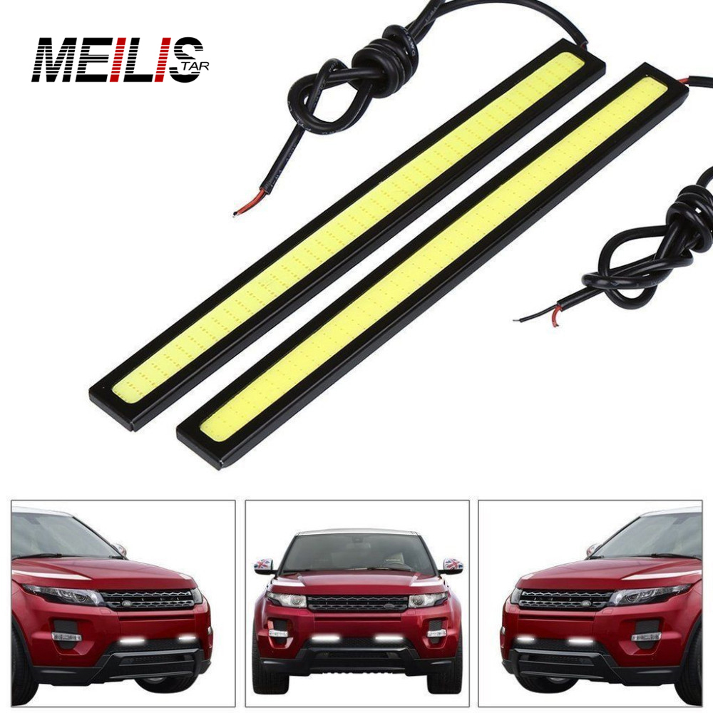 1pcs17cm car styling COB LED Lights DRL Daytime Running Light Auto Lamp For Universal Car Wholesales parking Free Shipping 2pcs 12v 31mm 36mm 39mm 41mm canbus led auto festoon light error free interior doom lamp car styling for volvo bmw audi benz