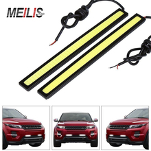 2pcs/Lot 17cm car styling COB LED Lights DRL Daytime Running Light Auto Lamp For Universal Car Wholesales parking Free Shipping