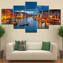 Bordighera in Italy landscape Wall posters Canvas Art painting 5 Panel HD Print For home living room decoration naturally beautiful places in india landscape 5 panel hd print wall posters canvas art painting for home living room decoration