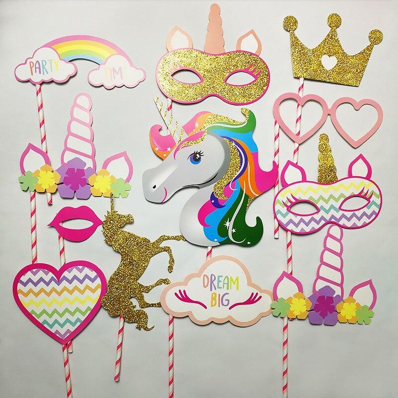ξvoiley Bridal Shower Photo Booth Props Flamingo Unicorn Decorazioni