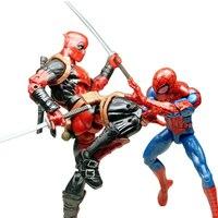 Marvel 2 pz Deadpool E Pizza Spiderman 6 pollice Action Figure Film Con Accessori di Armi Nessuna Scatola Regalo Per I Bambini compleanno