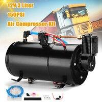 3L воздушный компрессор бак 150PSI 12 в поезд рога воздуха протектор шланга переключатель автомобиля для грузовика поезд