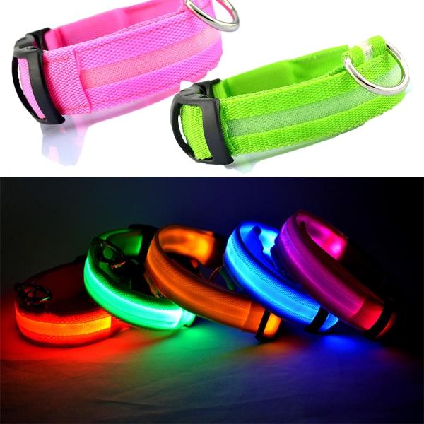 Pet Dog Collar Luminous kaķu apkakles suns Led mirgojošs gaismas - Mājdzīvnieku produkti