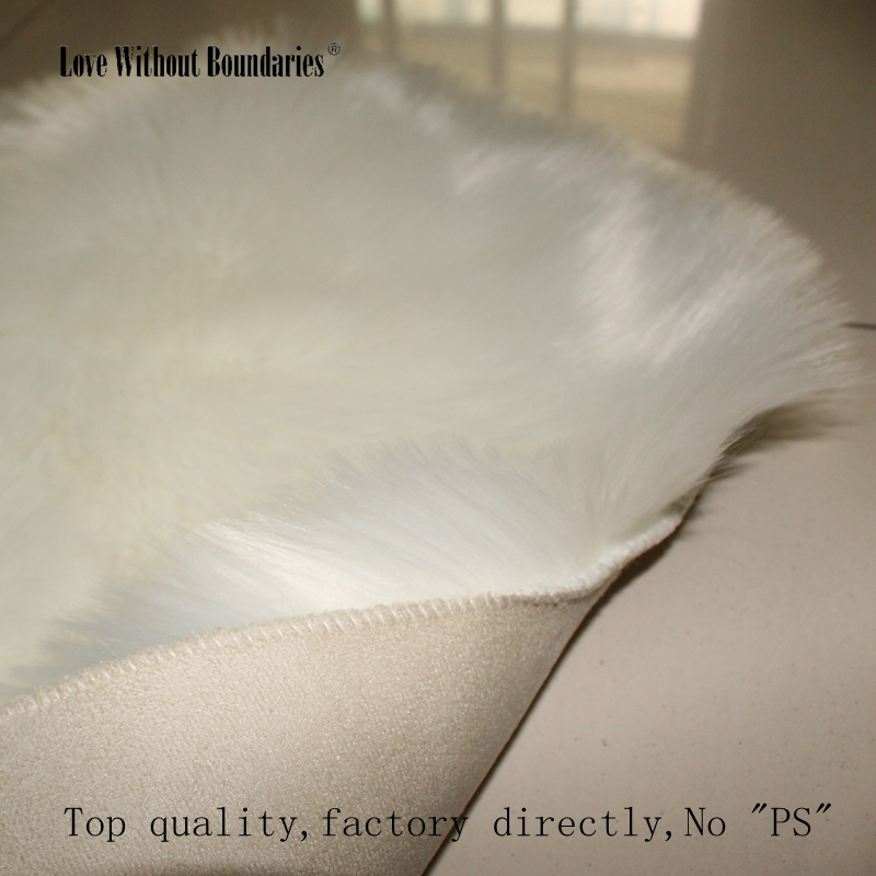 Wool length 6cm Hairy Imitation Wool Carpet Sheepskin Chair Cover Faux Mat Seat Pad Fluffy Area Bedroom Rugs TOP quality