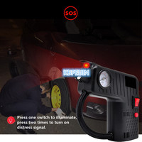 Portable 12V Car Auto Electric Air Compressor Tire Inflator Pump Rescue lamp for Citroen c2 c4 c5 c4l c3 saxo xsara Accessories