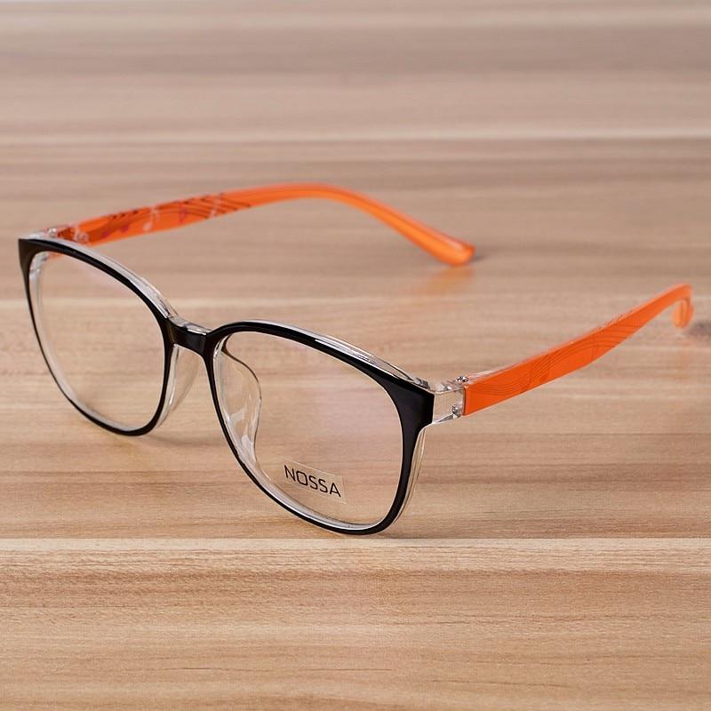 NOSSA Orange Clear Fashion Glasses Women & Men\'s Myopia Glasses ...