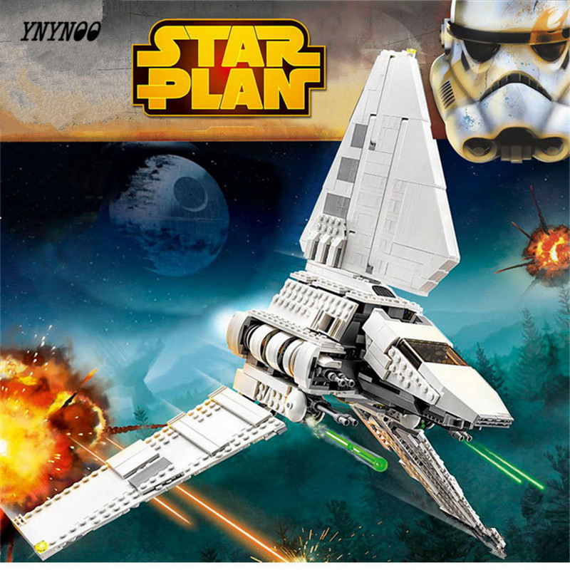 YNYNOO Lepin 05057 937Pcs Star War Series The Imperial Shuttle Set Model Building Kit Blocks Bricks Toy Compatible Gift 75094 lepin 22001 pirate ship imperial warships model building block briks toys gift 1717pcs compatible legoed 10210