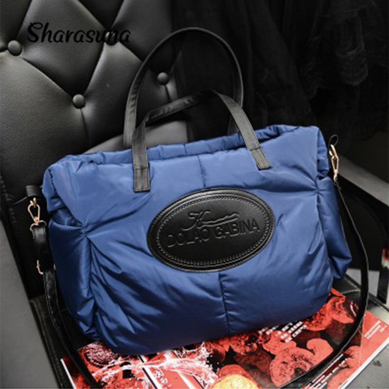 2016 Winter Cotton Fashion Women Handbags Designers Brand Women Shoulder Bag Warm Tote Women Messenger Bags