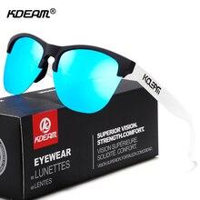 Kdeam feliz tr90 óculos de sol polarizados vida esporte homem óculos de sol anti reflexo quadro elástico óculos ao ar livre com caixa