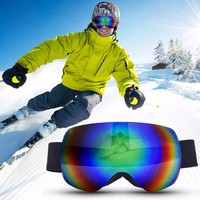 Ski Goggles Double Layers UV400 Anti Fog Windproof Big Ski Mask Glasses Skiing For Men Women