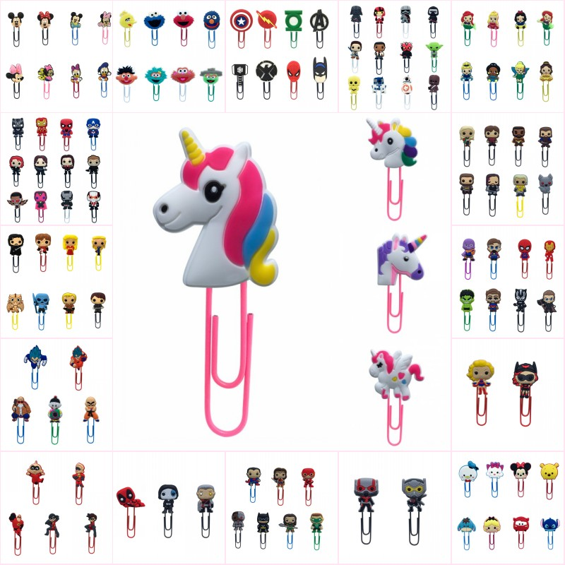 Free DHL Wholesale 1000pcs Kawaii PVC bookmark holder Memo Clip paper clip Book marks Office Supplies kids Novelty gifts