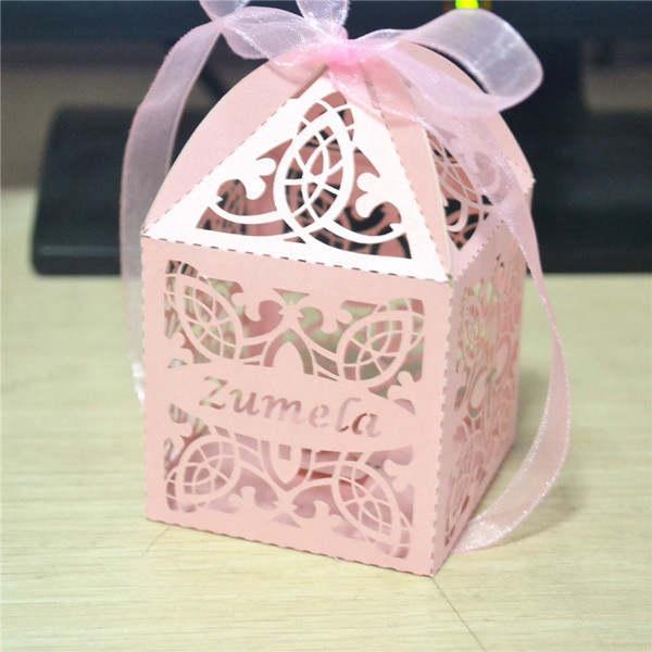 Baby Birth Souvenirs Shower Decorations Birthday Return Gift Kids Laser Cut Favor Box