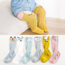 2019 Brand New Newborn Spring Winter Toddler Infant Baby Girls Baby Girl Socks Knee High Princess Cute Long Tube Booties Striped(China)