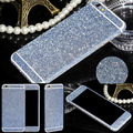 Multi-colores bling del brillo del diamante borde lateral rhinestone dulces deco teléfono bling diamante engomada de la piel para iphone 6 plus 5.5 inch