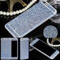 Multi-cores glitter bling diamante borda lateral de strass doces deco telefone bling do diamante adesivo de pele para iphone 6 plus 5.5 inch