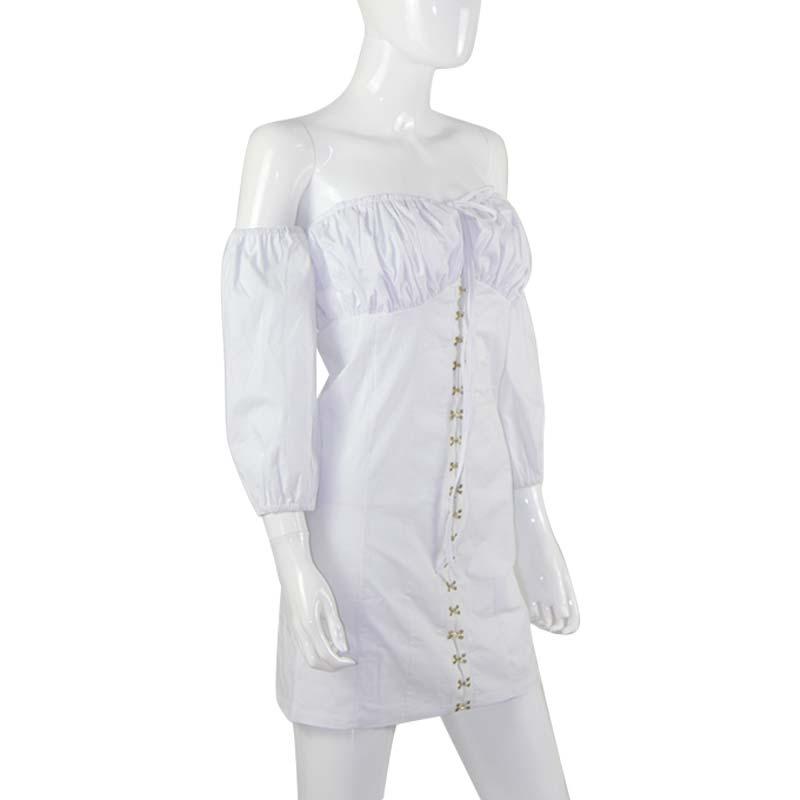 19 Summer Dress Women Fashion Solid Casual Regular Long Sleeve Sexy Club Slash neck Bangdage Sheath Women Dresses Vestidos 14