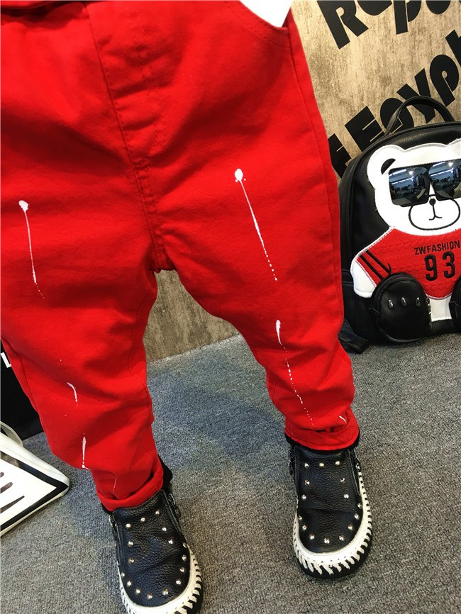 children baby boys autumn winter thick warm jeans pants (12)