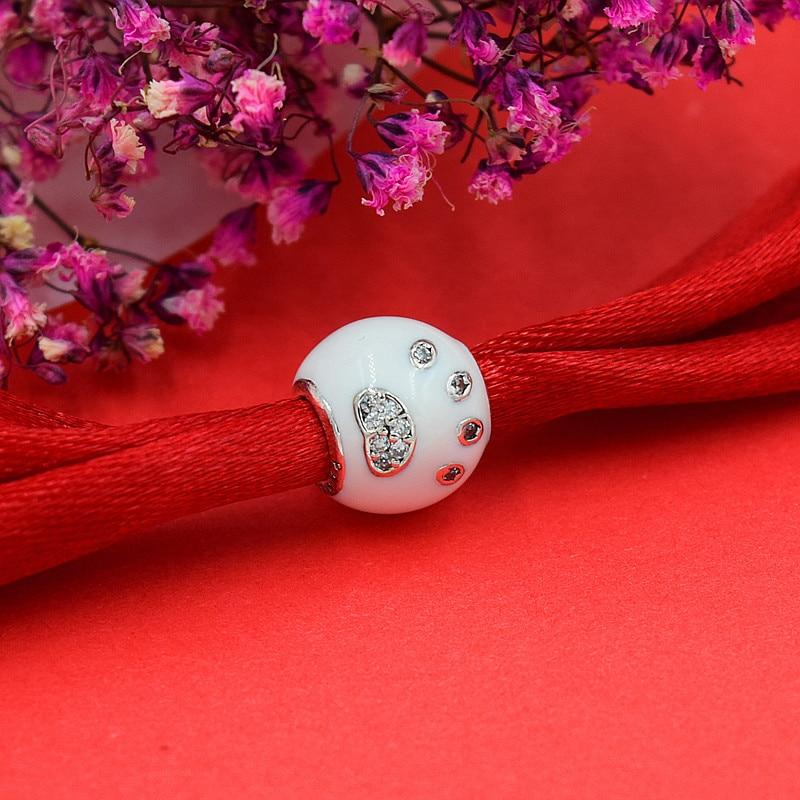 Chaud Argent Européen CZ Charme Perles Fit Pandora Style Bracelet - Bijoux fantaisie - Photo 4
