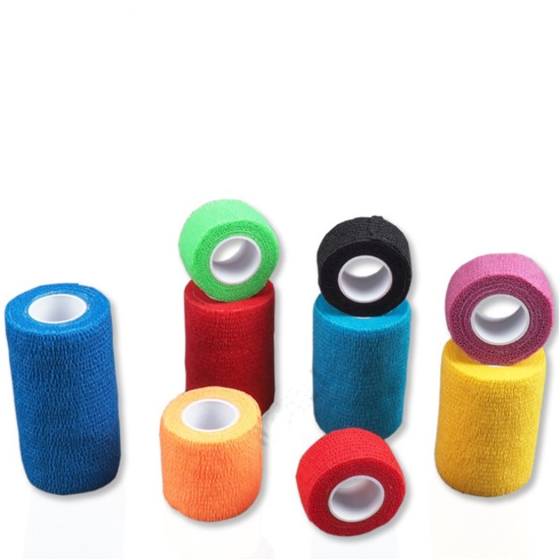 5 Pcs New Tape Sport Bandage Roll Cotton Elastic Adhesive Strain Injury Muscle Sticker Breathable 2.5x450cm  5x450cm 7.5x450cm