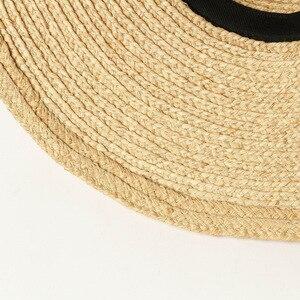 Image 4 - Шляпа от солнца USPOP женская с широкими полями, соломенная Складная Панама ручной работы, из рафии, в винтажном стиле, лето