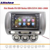Liislee автомобиля Android мультимедиа для Honda Fit 2001 ~ 2008 радио CD DVD плеер gps Navi географические карты навигации BT Аудио Видео стерео системы