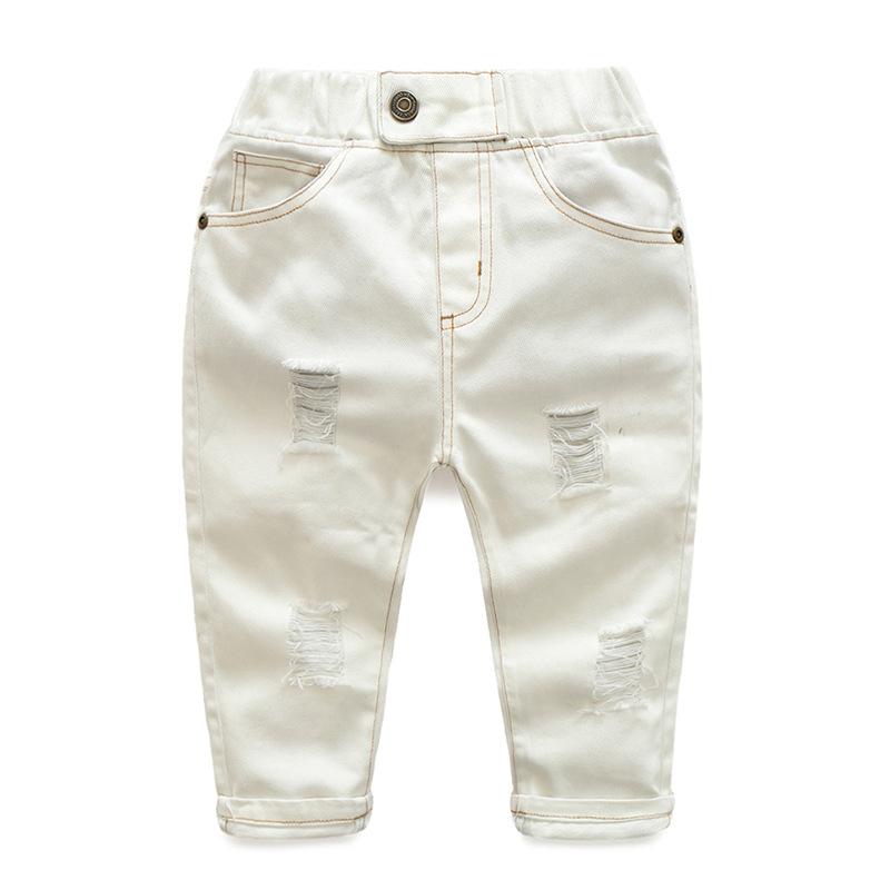 Hole Jeans For Boys Elastic Waist Kids Denim Trousers Kids Cowboy Harem Pants Solid Boy Jeans 2017 Spring Children Jeans 2-6 Y  (6)
