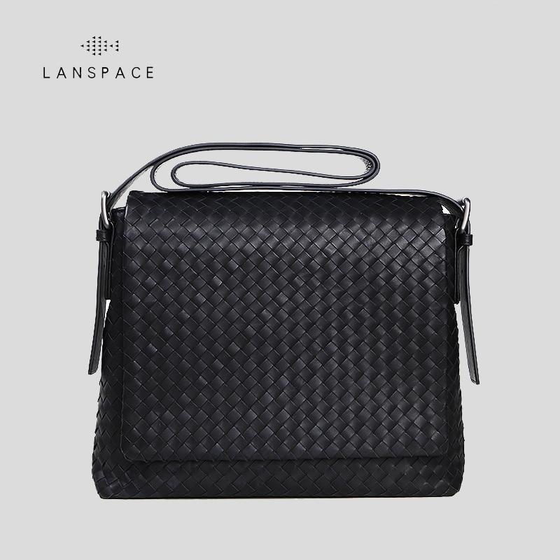 LANSPACE men's genuine leather shoulder bags fashion men bag famous brand crossbody bag lanspace men s leather crossbody bag small men bag fashion single shoulder bag