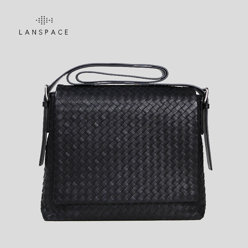 LANSPACE men's genuine leather shoulder bags fashion men bag famous brand crossbody bag lanspace men s leather shoulder bags leisure crossbody bag fashion leather men bag