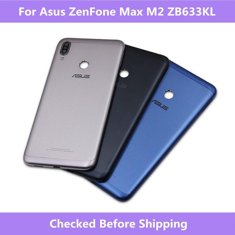Asus ZB633KL Battery Housing Cover back door Case For Asus ZenFone Max M2 ZB633KL Housing Cover Case For Zenfone ZB633KL