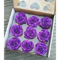9 יחידות פרחים מלאכותיים רוז פרח סבון קופסא מתנת ראש בצורת אהבת אמא יום האהבה מתנות חתונה פרחי אמבט גוף