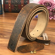 Leather Belts Without Buckles Men
