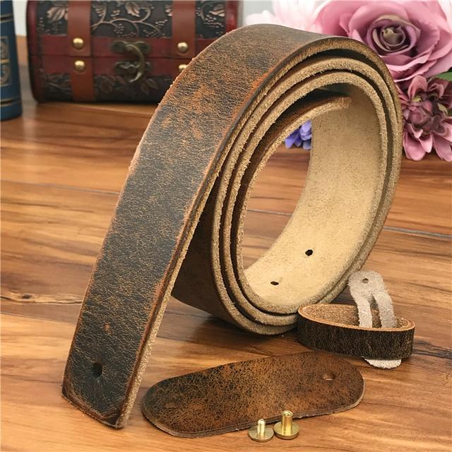 עור חגורות ללא אבזמי גברים חגורת Ceinture Homme Mens עור חגורות ללא אבזמי גברים חגורת אמיתי Leather105 125CM SP05