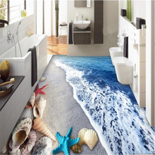 beibehang 3d wallpaper Fantastic magic fashion senior wall paper vast beach cute shell stereo painted flooring tiles tapety