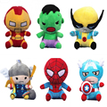 1pc spiderman Captain American and other anime Plush Toy spiderman captain American Doll Gifts soft children birthday gift 22cm