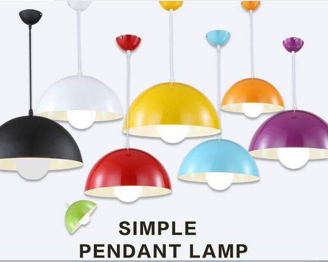 Modern Led Pendant Lights Multi Colour Dining Room Restaurant Lamp Semi Circle Lamps Home Decration Lighting E27