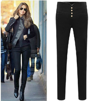 Super Lady Casual Pencil Pants Women High Waisted Slim Stretch Leggings Trousers Sport Pants For Woman