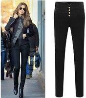 Super! Lady Casual Ołówek Spodnie Damskie Wysokiej Zwężone Slim Stretch Legginsy Spodnie spodnie dla kobiet Plus Rozmiar Hurtownie