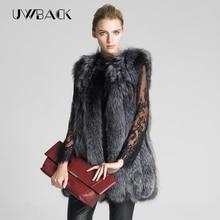 Uwback 2017 new winter fur coat /Vest Women warm faux plus size fur Jacket thicken vintage women faux fur gilet coat TB711