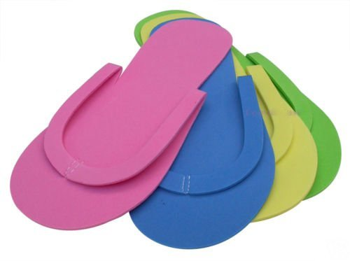 2015 Nail Art Tool 4 colors Disposable Pedicure Manicure Tool Foam Slippers Flip Flop 48 pcs/lot SKU:F0112X