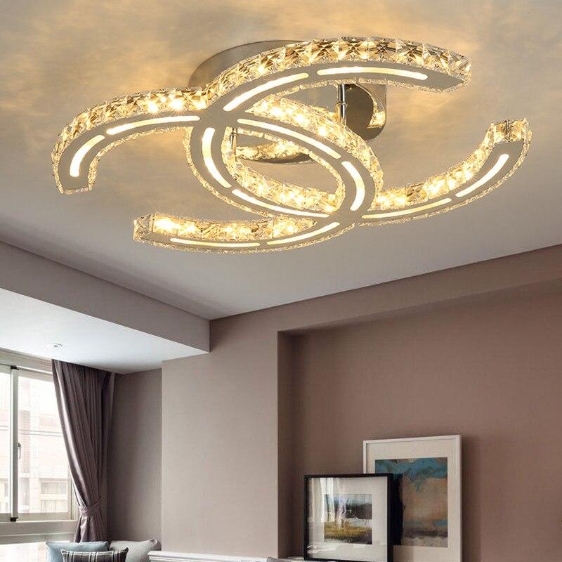 Modern LED Crystal Ceiling Lights For Living Room luminarias para sala plafon Ceiling Lamp Fixture Bedroom iluminacion led teto