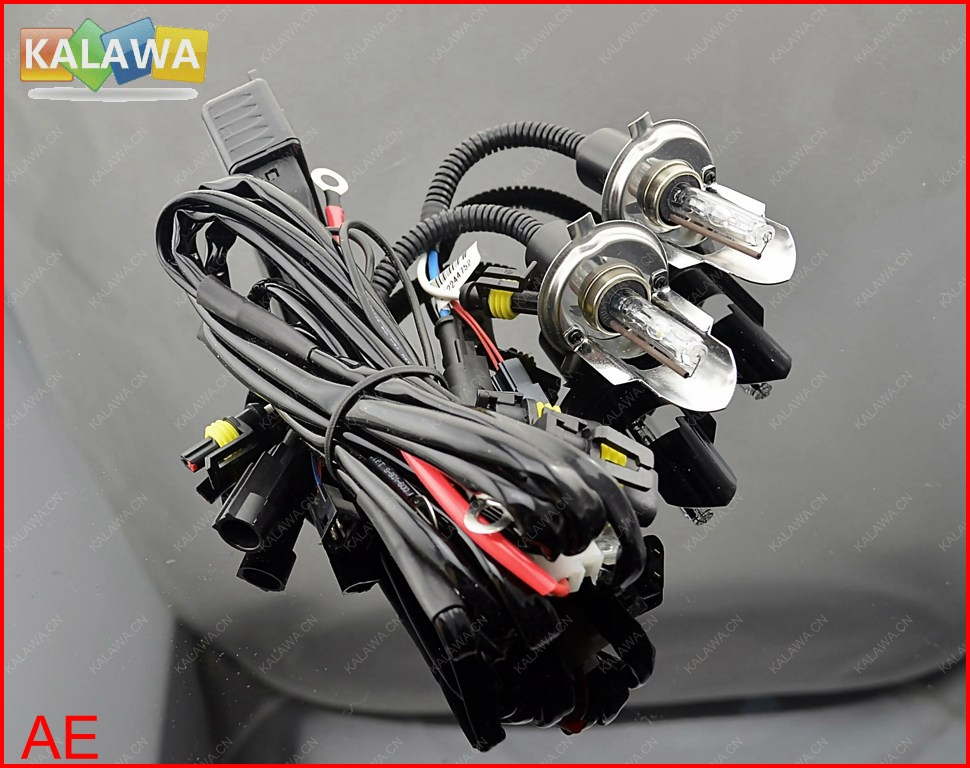H4-3 HID Bi Xenon SWING ANGLE Bulbs Motorbikecycle H/L beam bixenon lamp+Harness Controller MOTO
