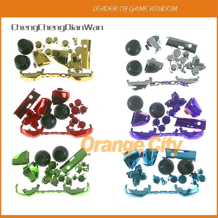 20sets lot Chrome Silver Mod LB RB RT LT Bumper joystick cap Full Set Buttons for