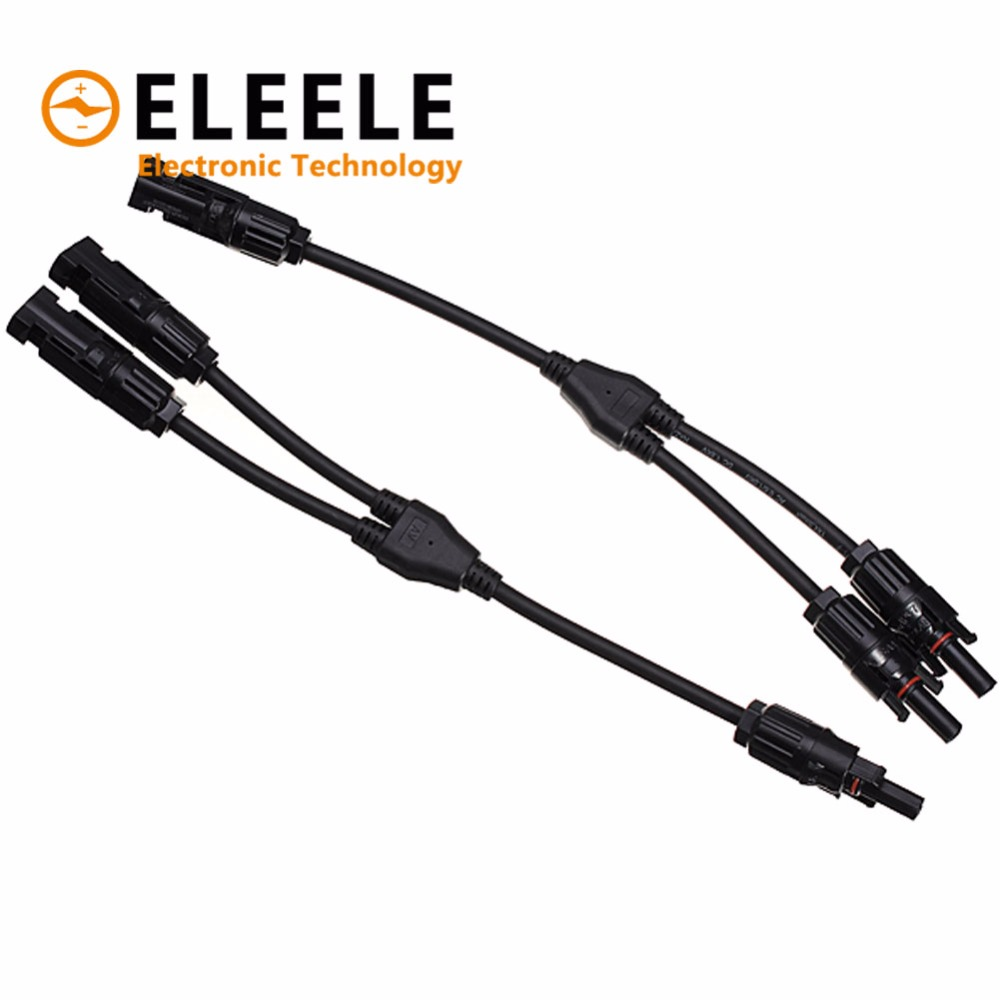 1 Pair MC4 Branch Y Adapter Connectors M/M/F and F/F/M For Solar Panels Cable PN35